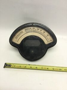 Vintage The Electric Tachometer Co Gauge Steampunk Weston Gauge