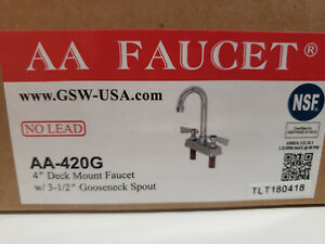 Aa 420g Faucet 4 Commercial Deck Mount Faucet With Heavy Duty Lead Free Goosene