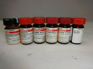 Lot Of Sigma Aldrich Lab Dyes Opened Nile Red Brilliant Blue G More