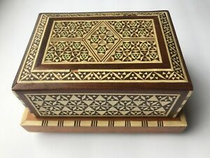 Vintage Antique Inlay Music Box Rare Ornate Pattern
