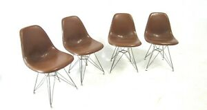 Set Of 4 Eames Herman Miller Eiffel Tower Shell Chairs