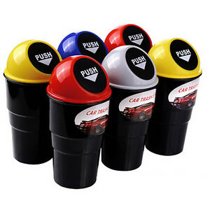 Fashion Car Office Home Auto Waste Trash Rubbish Bin Can Garbage Dust Case P0hwc