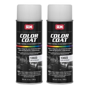 Sem 13023 Color Coat Clears Low Luster Clear Spray Paint Aerosol 12 Oz 2 Cans