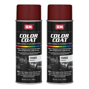 Sem 15063 Color Coat Burgundy Spray Paint Aerosol 12 Oz 2 Cans