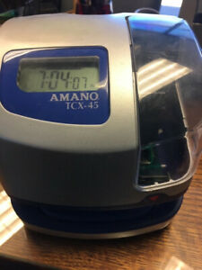 Amano Tcx 45 Time Clock Used But Works No Key