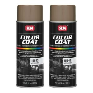 Sem 15843 Color Coat Medium Parchment Spray Paint Aerosol Can 12 Oz 2 Cans