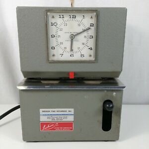 Lathem 2156 Time Punch Card Stamp Recorder Clock W Key Heavy Duty Manual