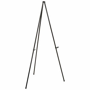Heavy Duty Easel Stand Black Aluminum Portable 63 1 2 h Lot Of 1