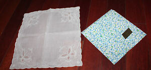 Broderies Langenberger New In Envelope Hand Stitched Hankerchief