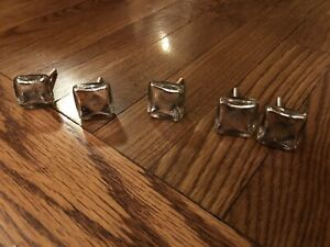5 Glass Drawer Pull Knobs