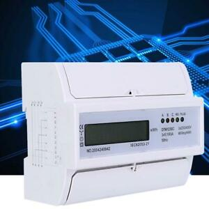 5 100a 3 Phase 4 Wire Electronic Watt Power Consumption Energy Meter Kwh Meter