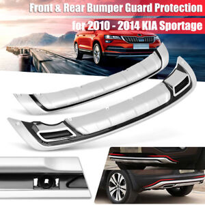 Abs Front Rear Bumper Protect Guard Board Protection For Kia Sportage