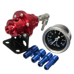 Adjustable Auto Car 1 1 Fuel Pressure Regulator With Kpa Oil Gauge Kit 0 160