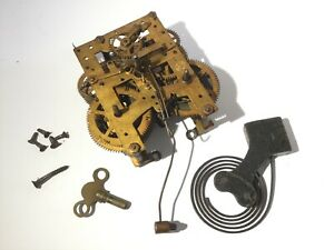 Antique Vintage New Haven Trademark Usa Clock Movement And Parts