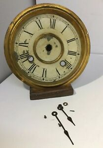 Antique Vintage New Haven Clock Co Usa Clock Parts Face Dial Hands Fittings