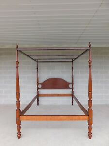 Suters Chippendale Style Mahogany Tester Frame Full Size Poster Bed