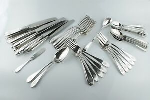 44 Pc Arthur Stone George Blanchard Sterling Silver Flatware Set Pointed End