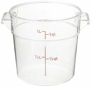 Cambro Rfscw6135 Camwear 6 quart Round Food Storage Container Polycarbonate
