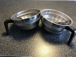 Lot Of 2 bunn Stainless Steel Coffee Filter Funnel Brew Basket