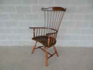 Frederick Duckloe Bros Fan Back Windsor Arm Chair