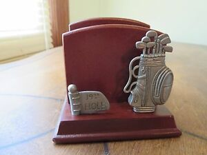 Letter Holder Wood And Metal 19th Hole