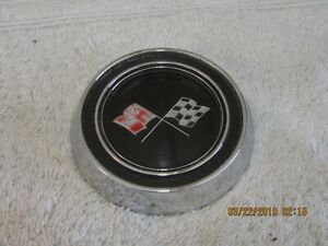 1967 Corvette Steering Wheel Horn Cap Button Emblem Assembly Made In The Usa