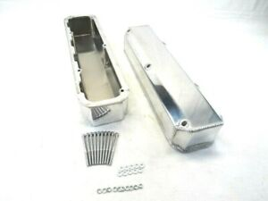 Mopar 340 360 Fabricated Aluminum Valve Covers No Hole Polished Bpe 2352p