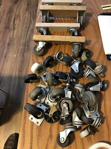 Huge Lot Of Swivel Caster Wheels 2 Top Plate Bearing Others