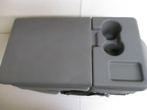 2009 2010 2011 2012 2013 2014 Ford F150 Gray Cloth Center Jump Seat With Lid