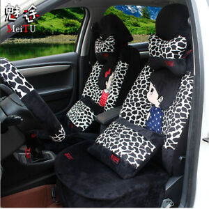 20pcs sets New Plush Cartoon Universal Car Seat Cover Seat Covers 1 Sets M8666