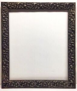 Vintage Large Ornate Frame 16x20 Charcoal Silver