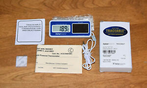 Fisherbrand Traceable Solar powered Digital Thermometer Calibrated 15 077 20 New