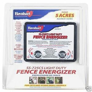 Havahart 5 Acres Light Duty Fence Energizer Ss 725cs