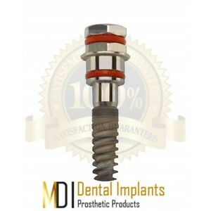 5 Mdi Sterile Spiral Dental Implant s all Sizes Available Internal Hex Ce fda