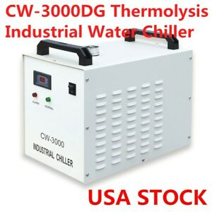 Us Stock Cw 3000dg Thermolysis Industrial Water Chiller For Laser Engraver