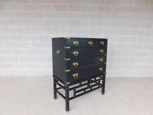 Permacraft By Sanford Furniture Black Lacquer Asian Style Chest 35 W X 43 H