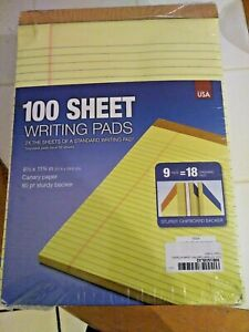New 9 Pads 8 5 X 11 100 Sheet Yellow Writing Paper Note Pads Made In Usa