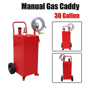 30 Gallon Gas Caddy Automotive Fuel Gasoline Fluid Diesel Storage Transfer Tank