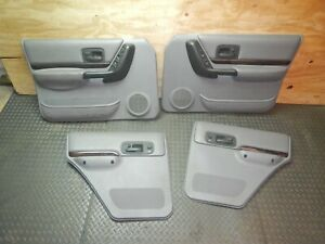 Jeep Cherokee Xj 97 01 Gray Woodgrain Limited Interior Door Panel Assembly Oem