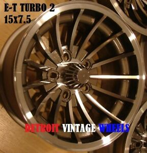 15x7 5 Et Turbine Mags 1975 5x4 5 Mustang Cougar Challenger Charger Cuda Van
