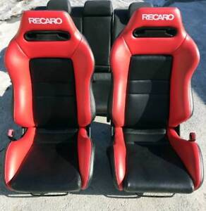 Seat Recaro Sr 3 Cloth Only Cover Red Black Eco Leather New 2 Pc