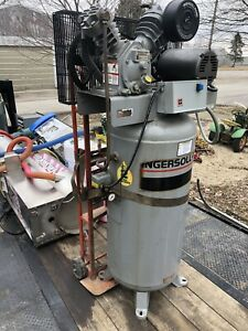 Ingersoll T30 60 Gal Upright Air Compressor 5hp 3 Phase Great Condi