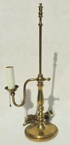 Beautiful Antique Vintage Solid Brass Student Desk Table Lamp 5427