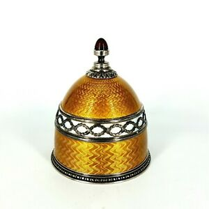 Russian Faberge 88 Silver And Guilloche Enamel Perfume Bottle