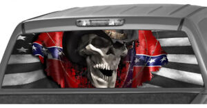 American Cowboy Skull Rear Window Decal Graphics Pickup Truck Van Punisher Ute