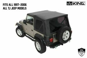King 4wd Replacement Soft Top Tinted Rear Windows 1997 2006 Tj For Jeep Wrangler