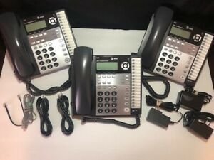 Lot Of 3 At t 1070 Small Business System Phone 4 line Used