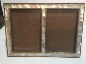 Vintage Metal Or Brass Double Photo Picture Frame 5 X7