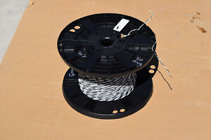 New twisted Pair 750 Teflon Silver Plate Wire 20awg Black White 19 Strand Guar
