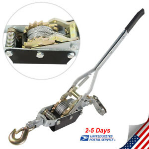 Usa Ship Heavy Duty Come Along 4ton 8000lb Winch Hoist Hand Cable Puller Pulling